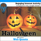 Halloween WebQuest - Engaging Internet Activity  {Includes Google Slides option}