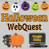 Halloween Webquest - Editable in Google Slides!