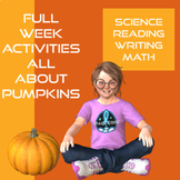 Halloween Week Long Activities Math, Reading, Writing, and