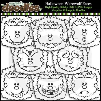 Halloween Werewolf Faces