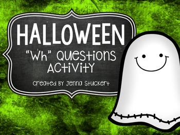 "Halloween ""Wh"" Questions Activity"