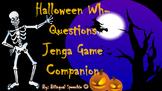 Halloween Wh- Questions Jenga Game Companion