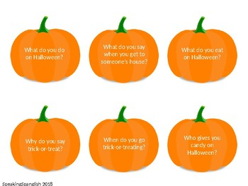 Halloween 'Wh' questions- BUNDLE- English & Spanish