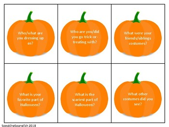 Halloween 'Wh' questions- English