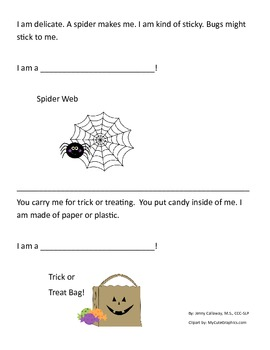 Halloween ~ What Am I?