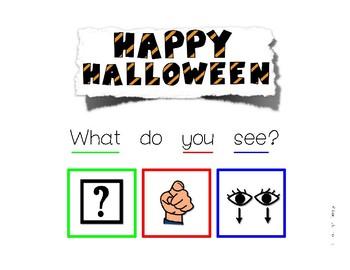 Halloween What Do You See - Interactive SVO sentences book