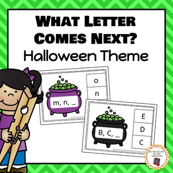 Halloween What Letter Comes Next? Clip Cards