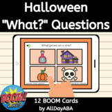Halloween What Questions - WH Questions Boom Cards - Autis