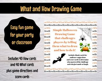 Halloween What and How Drawing Game - Classroom party, youth group, teen  party,