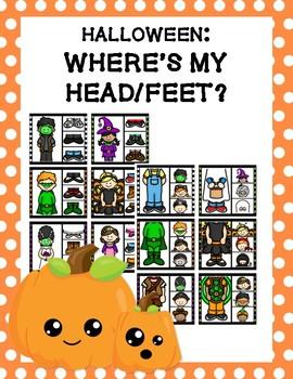 Halloween: Where's My Head/Feet Clip Cards
