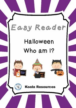 Halloween Who Am I? Easy Reader