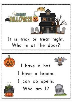 Halloween Who Am I? Easy Reader