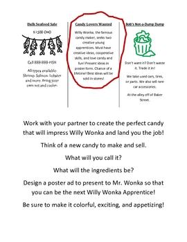 Halloween Willy Wonka Candy Creation Activity