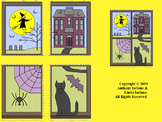 Halloween Window Mystery Picture               (One Quadrant and Four Quadrants)