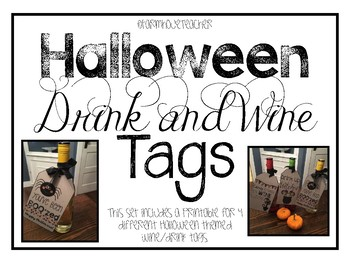 Halloween Wine and Beverage Gift Tags