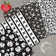 Halloween Digital Papers Wispy Ghosts in Black and White, AMB-149