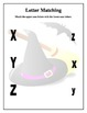 Halloween Witch ABC Letter Matching Worksheets