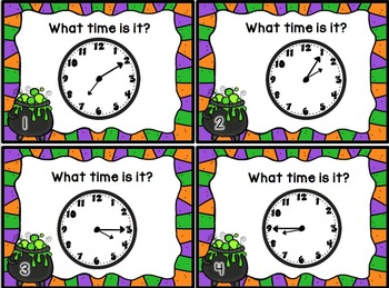 Halloween Telling Time Task Cards