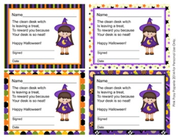 Halloween Witch Clean Desk Awards
