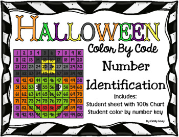 Halloween Witch Color By Number ~ Number Identification 1-100