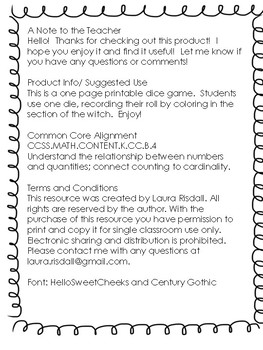 Halloween Witch Dice Roll Game!