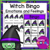 Halloween Witch Emotions and Feelings Bingo