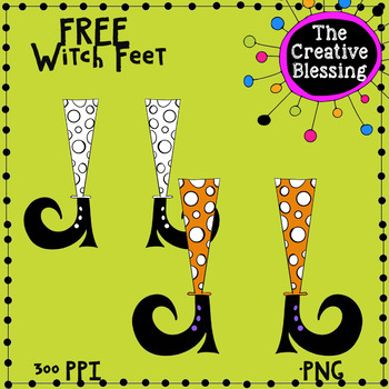Free Halloween Witch Feet  Clip Art Collab