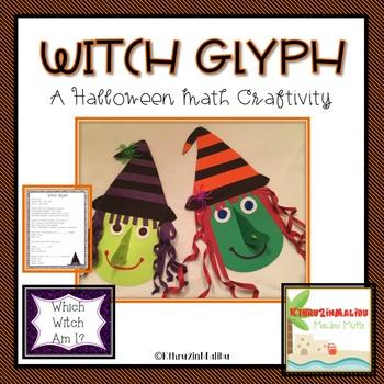 Halloween Witch Glyph-A Math Craftivity