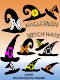 Halloween Witch Hats Clip Art
