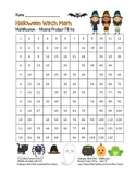"""""""Halloween Witch Math"""" Multiplication Fill Ins – Easy - FUN! (black line&color)"""