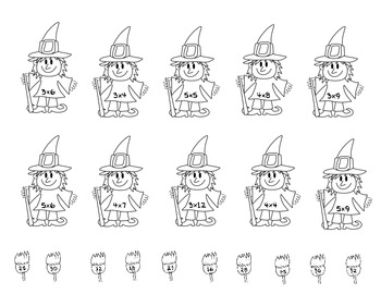 Halloween Witch Multiplication