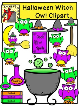 Halloween Witch Owl Clipart