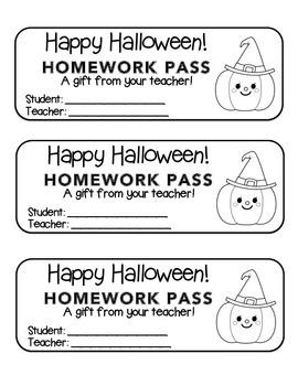 """""""Halloween"""" Witch Pumpkin - Homework Pass –Holiday FUN! (b"""