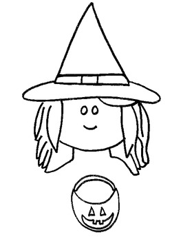 """Halloween Witch Puppet or """"Ww for witch puppet"""
