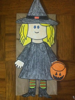 "Halloween Witch Puppet or ""Ww for witch puppet"