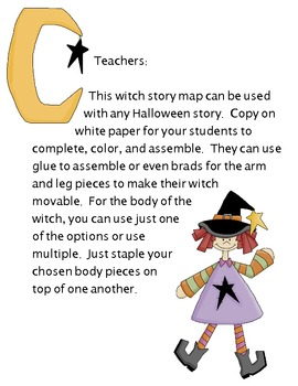 Halloween Witch Reading Story Map