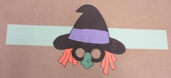 Halloween Witch Sentence Strip Hat Mask