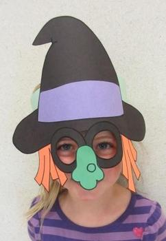 Halloween Witch Sentence Strip Hat Mask