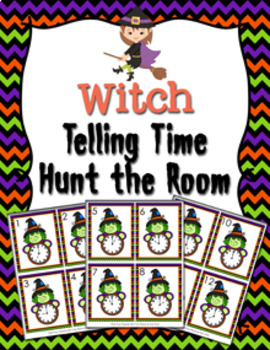 Halloween Witch Time to the Hour Hunt the Room