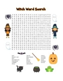 """""""Halloween Witch"""" – Word Search – Halloween Fun! (Black Line and Color Versions)"""