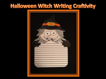 Halloween Witch Writing Craftivity
