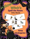 Halloween Witch's CVCe Words Spell the Room