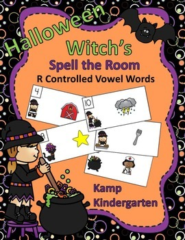 Halloween Witch's Spell the Room (R Controlled Vowel Words)