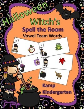 Halloween Witch's Vowel Team Words Spell the Room