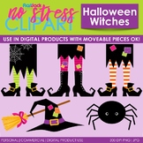 Halloween Witches Clip Art (Digital Use Ok!)