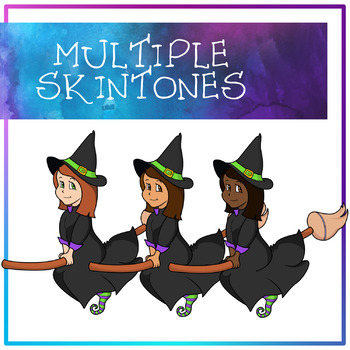 Halloween Witches Clipart
