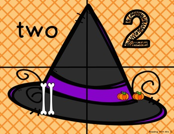 Halloween Witches Hat 1-10 Numbers Match