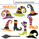 Halloween Witches Hats and Boots clip art - commercial use