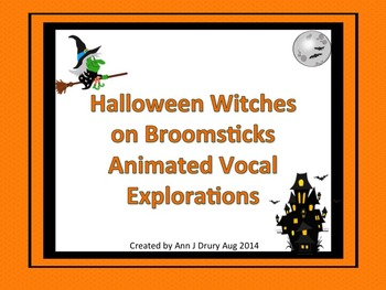 Halloween Witches on Broomsticks Animated Vocal Explorations