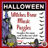 Halloween Music Activities: Witches Brew Music Puzzles